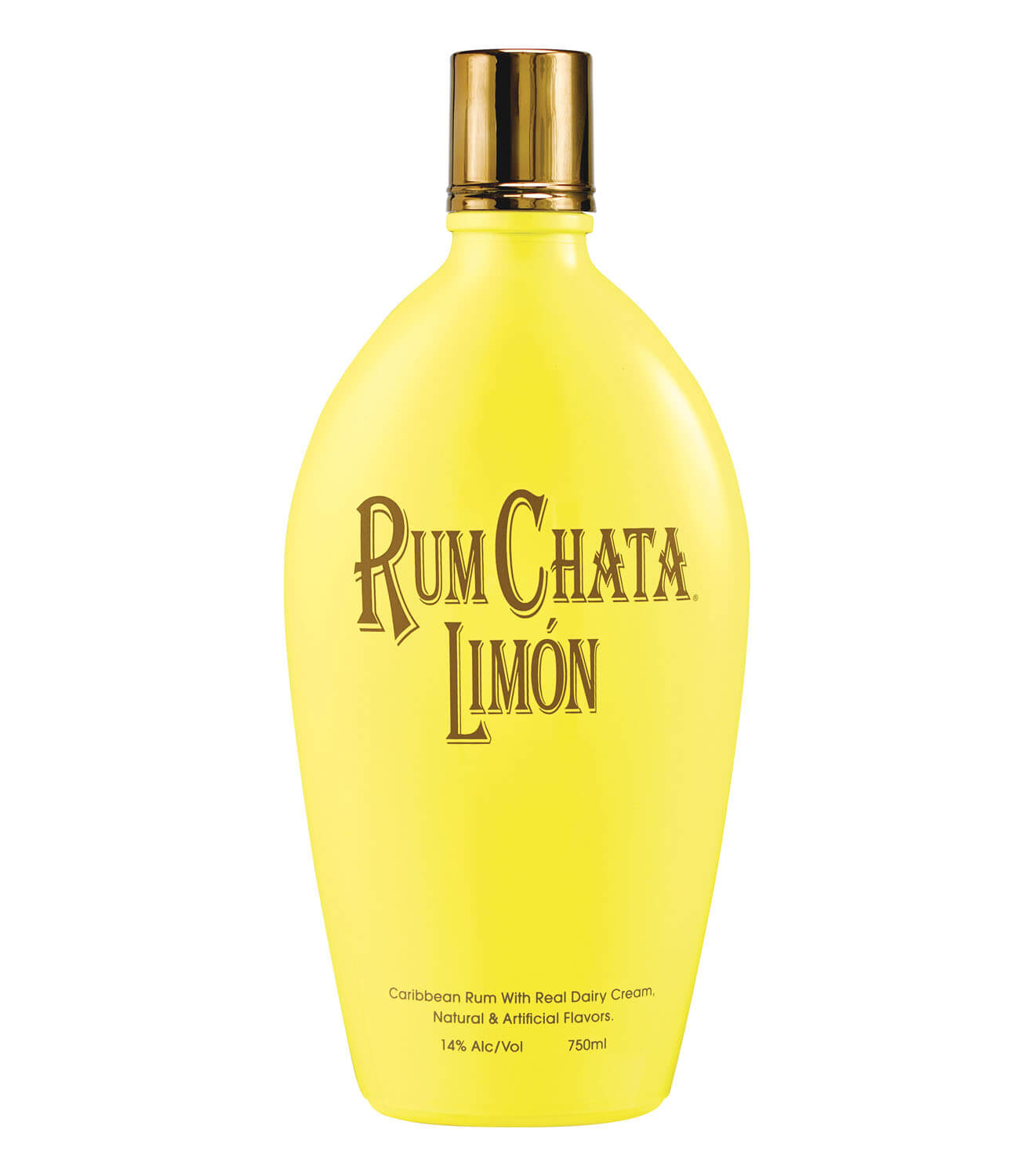 RumChata Limón, bottle on white