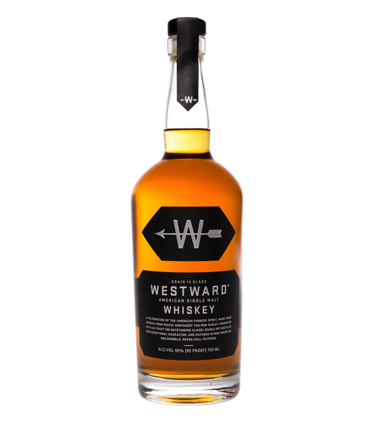Westward Single Malt, bottle on white