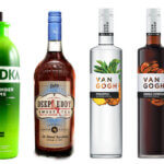 Top 10 Flavored Vodkas Worth A Try, vodka bottles on white, featured image