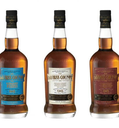 Lux Row Distillers, bottles on white, featured image