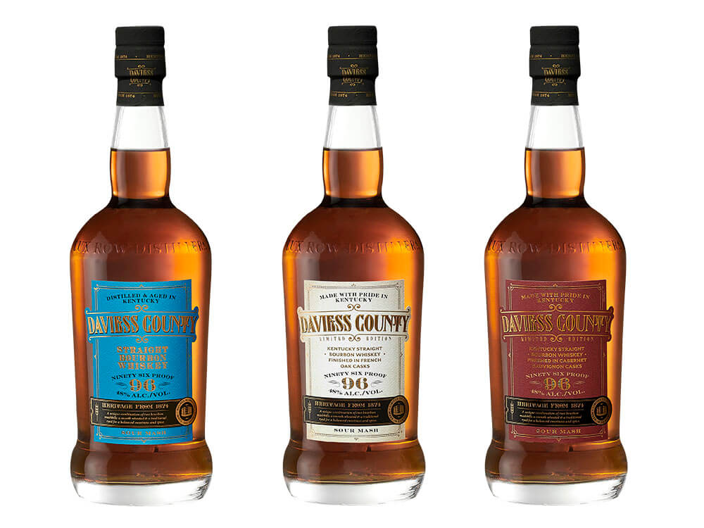 Lux Row Distillers Variants, bottles on white