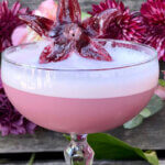 Rose Orchard, cocktail with flower garnish, featured image