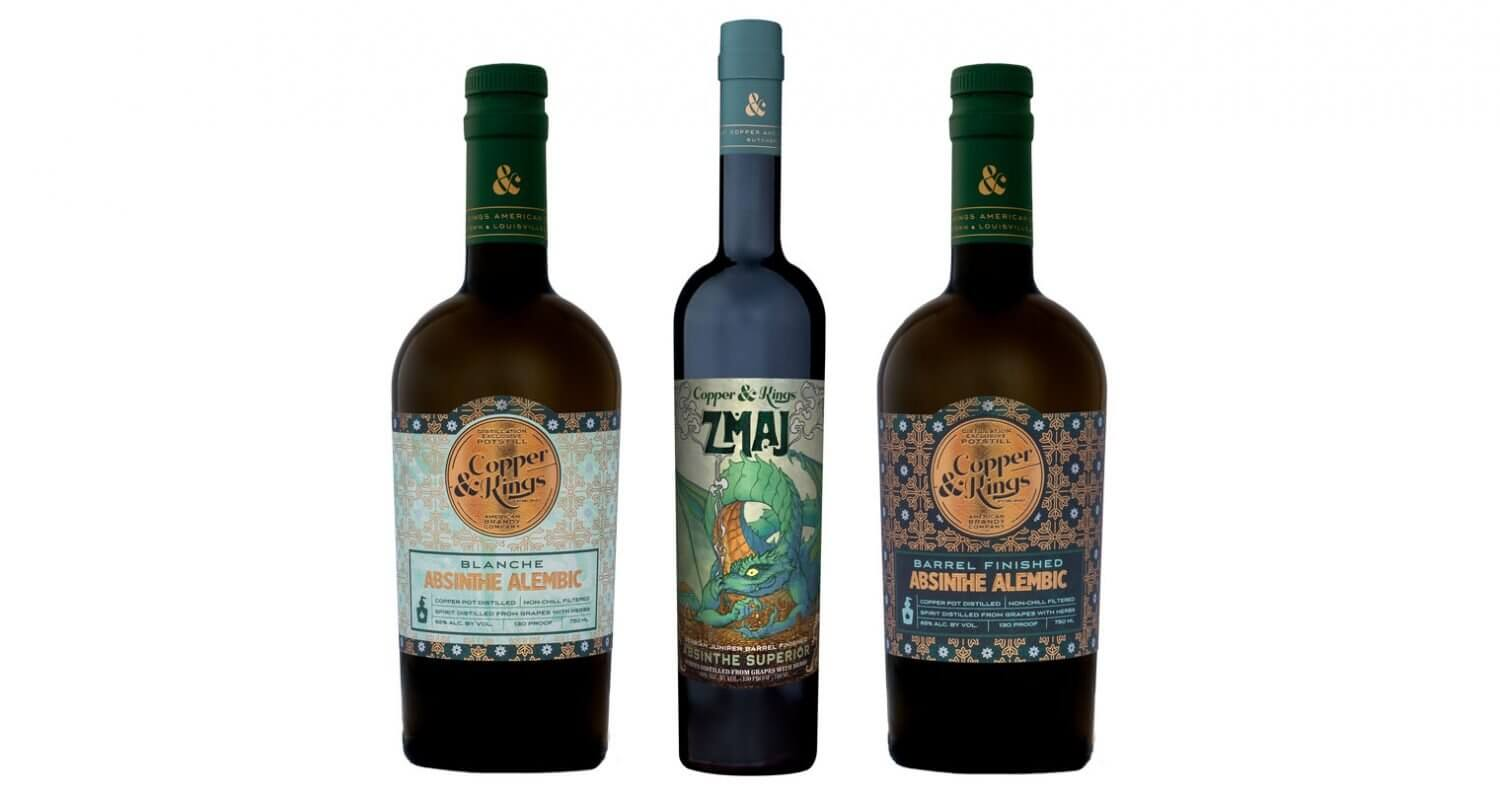 Absinthe Minded Copper & Kings, featured image, bottles on white