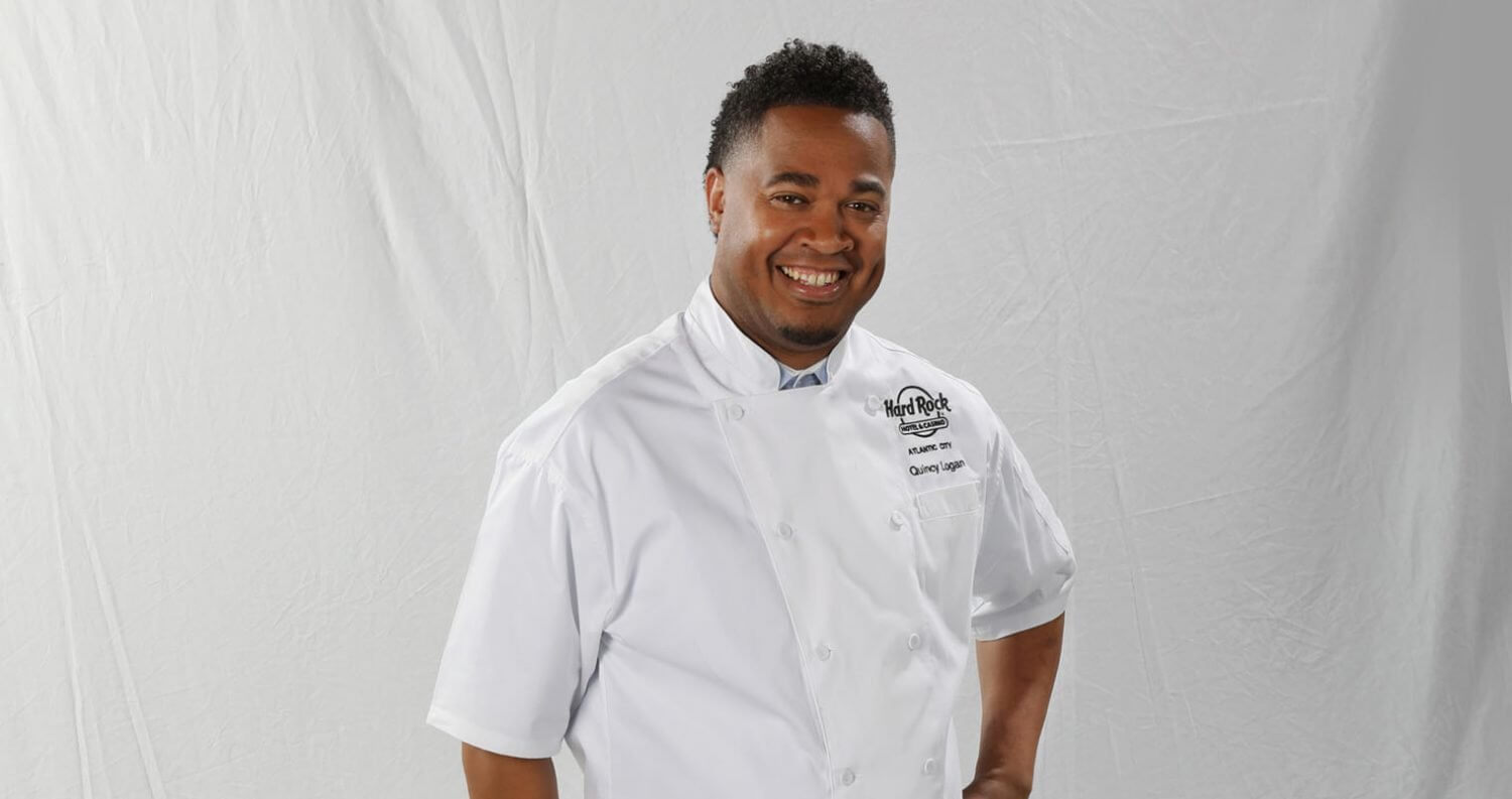 Chef Quincy Logan, light background, featured image