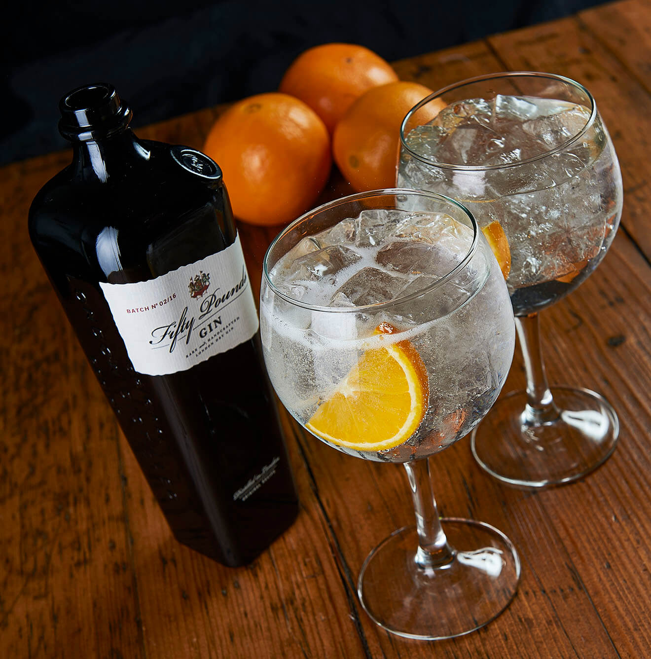 Fifty Pounds Gin & Tonic with Oranges