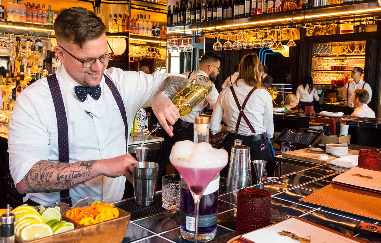 Houston Bartender Chris Morris Mixing Behind the Stick