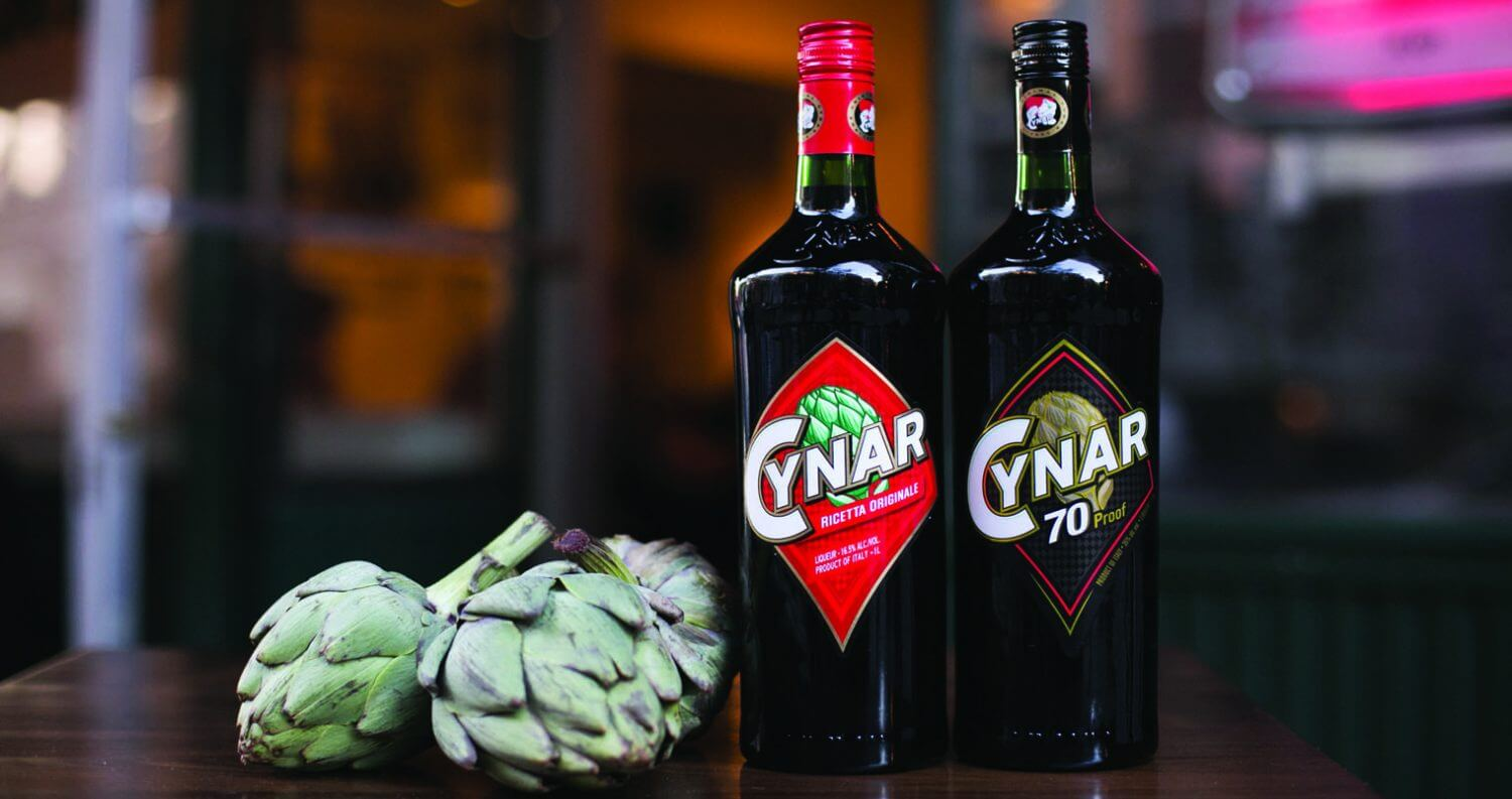 Cynar 70 Proof and Cynar Original, bottles with artichokes, featured image