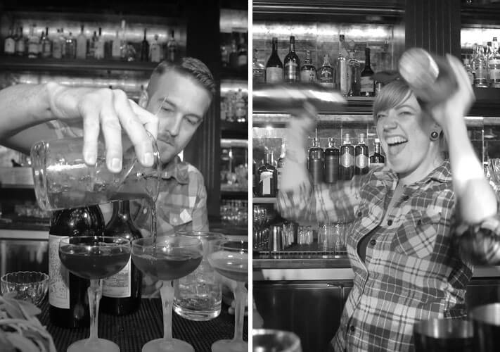 Empowering Bartenders 2020, black and white, mixologists shaking