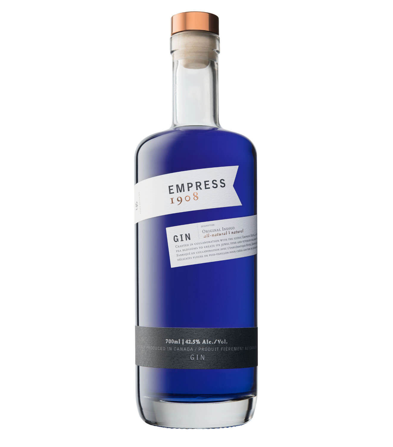 Empress 1908 Gin, bottle on white