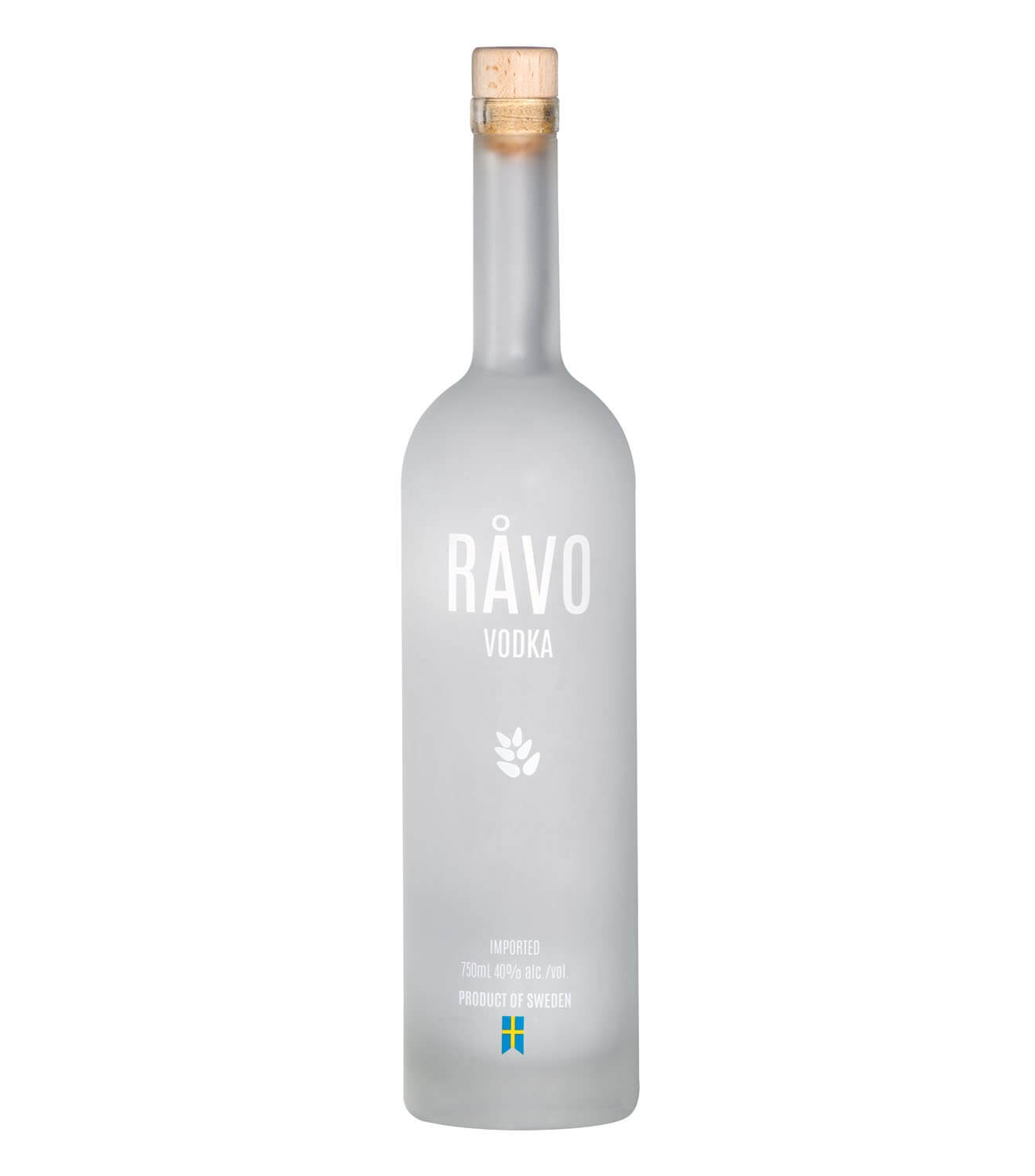 Råvo Vodka, bottle on white
