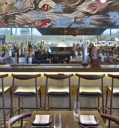 Sparrow + Wolf, interior, bar area, featured image