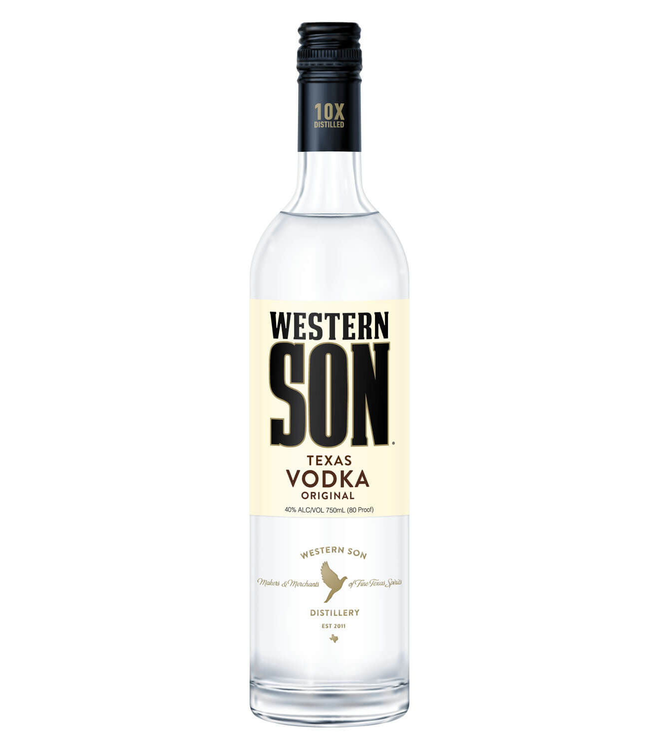 Western Son, bottle on white
