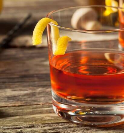 Sazerac cocktails with garnish, featured image