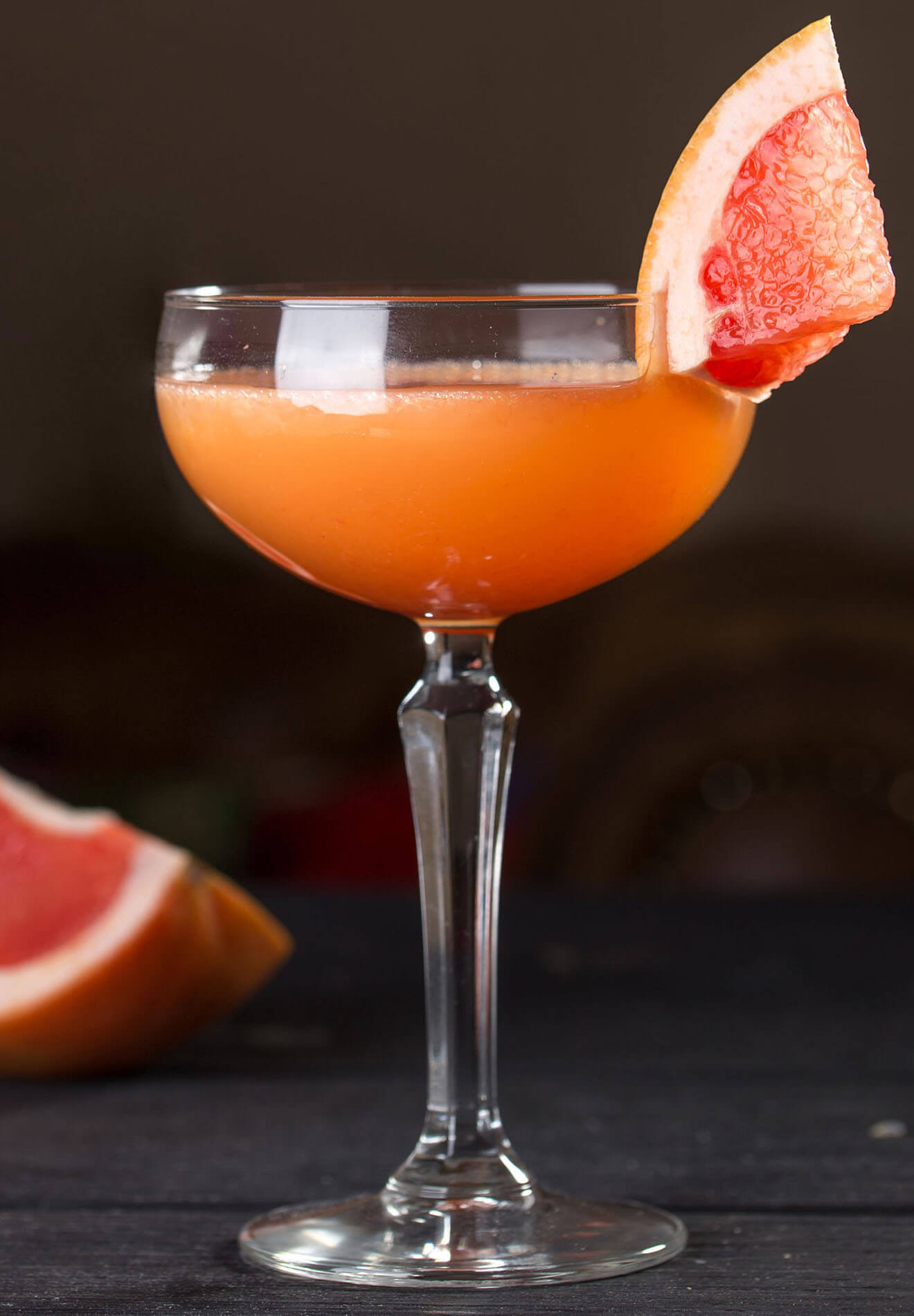 The Bittersweet cocktail with grapefruit garnish
