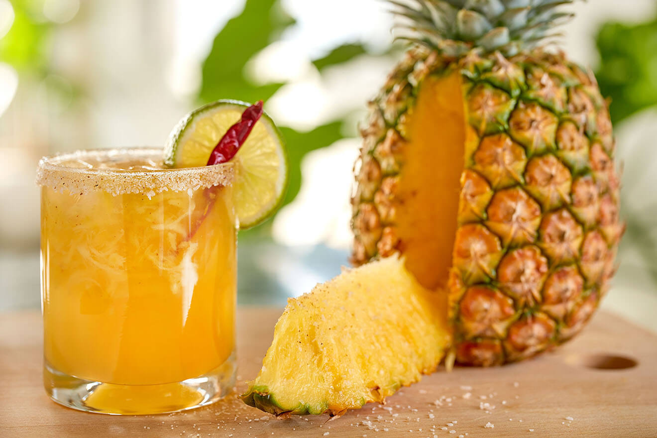 Tropical Heat, cocktail with pineapple