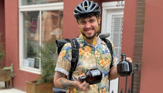 Biking Bartender Tom Roughton Delivers a New Normal
