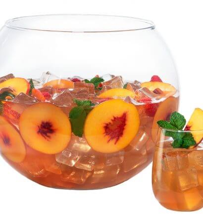 Freedom of Peach, bowl cocktail and glass, featured image
