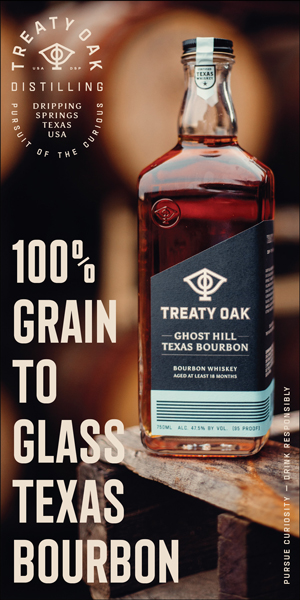 Treaty Oak Distilling sidebar tall ad
