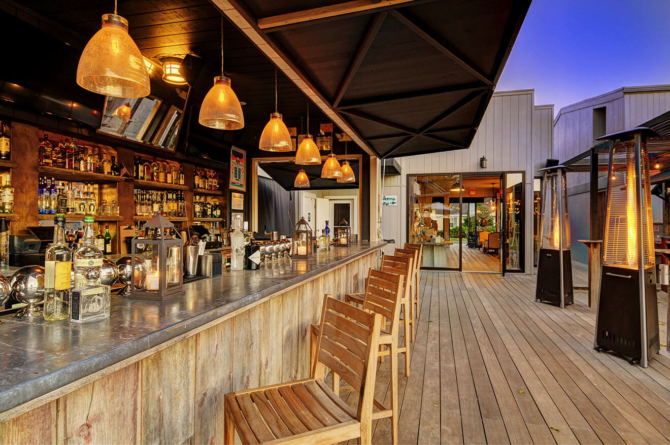 Montauk Beach House Outdoor Bar Evening