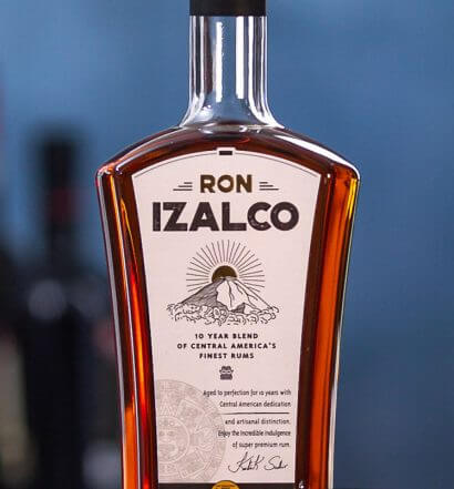 Ron Izalco Bottle and drink, featured image