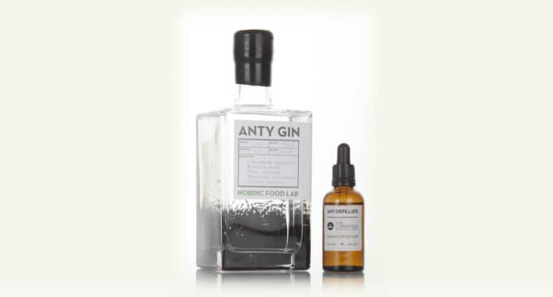 Anty Gin, bottle and dropper on white, featured image