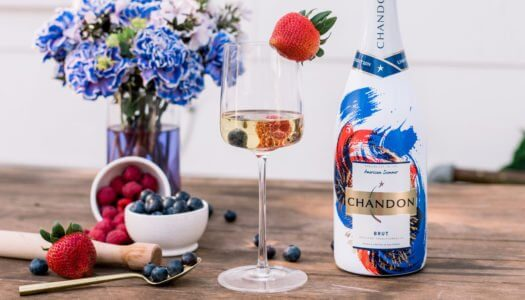 End of Summer Red, White, and Blues with Chandon's American Summer Brut