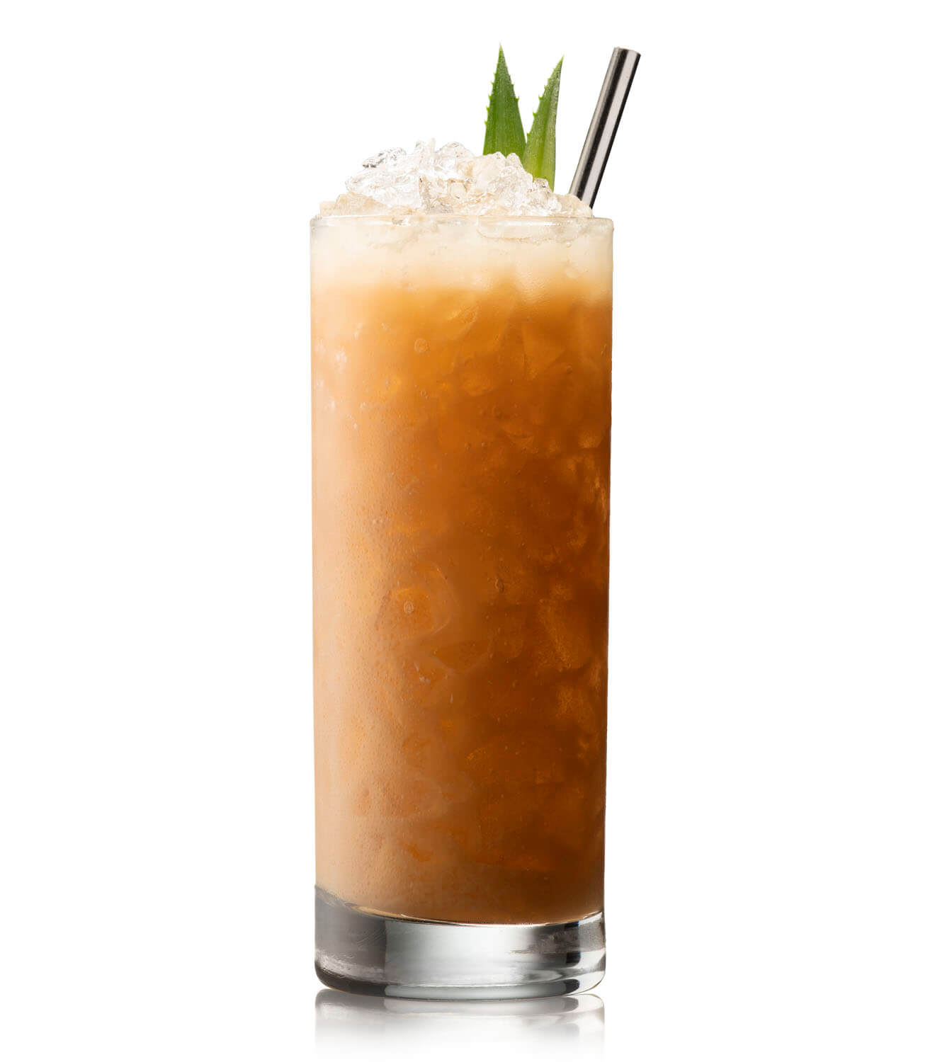 Coffee Swizzle, cocktail on white