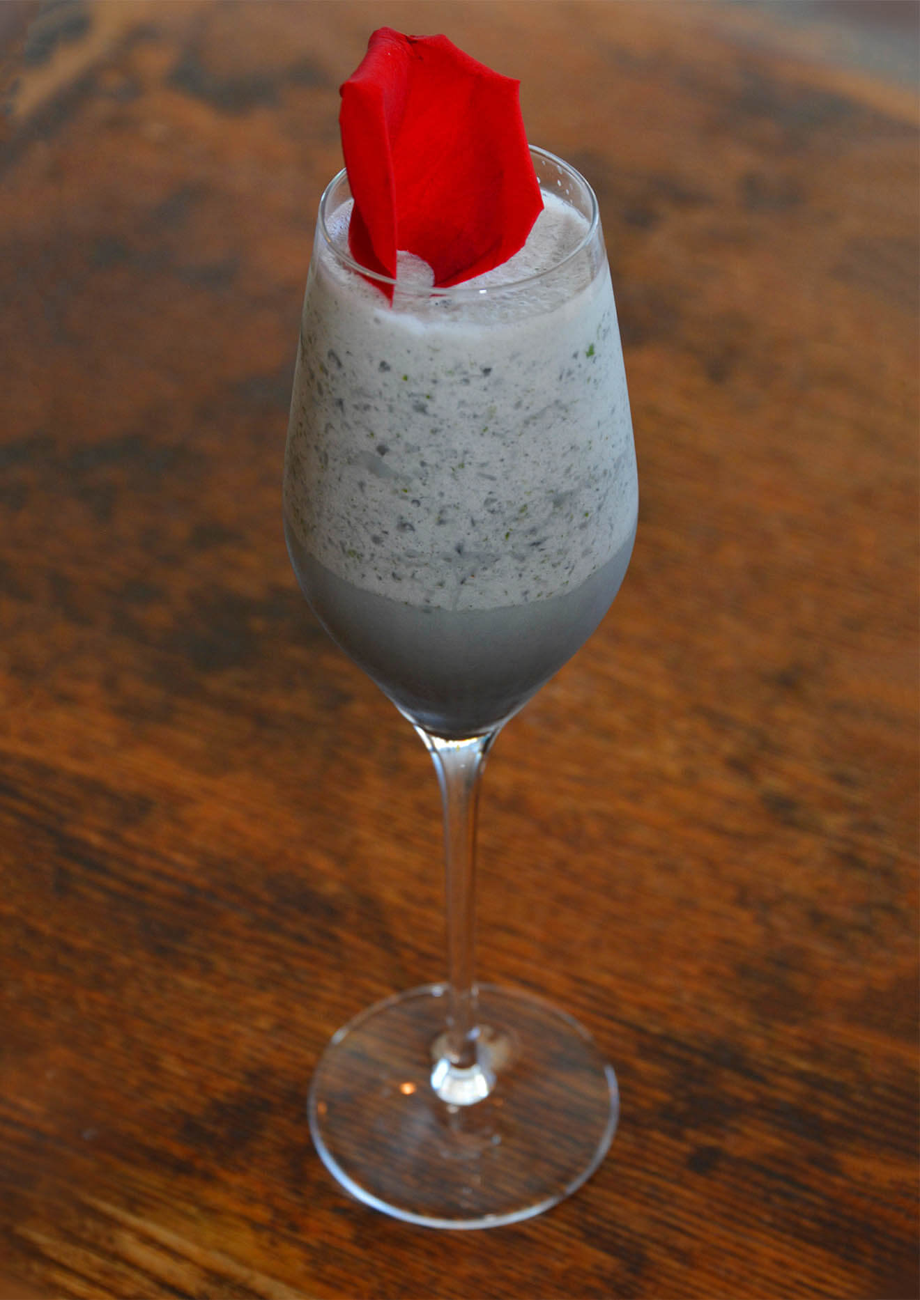 Lighter Shade of the Dark Side, cocktail with garnicsh