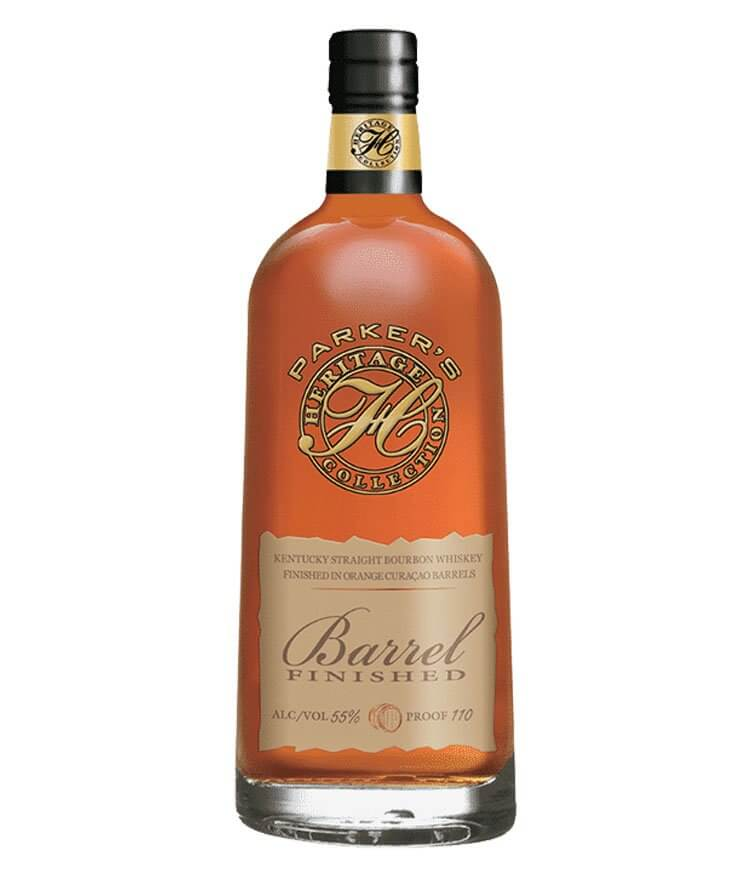 Parker's Heritage Barrel Finish 2018, bottle on white