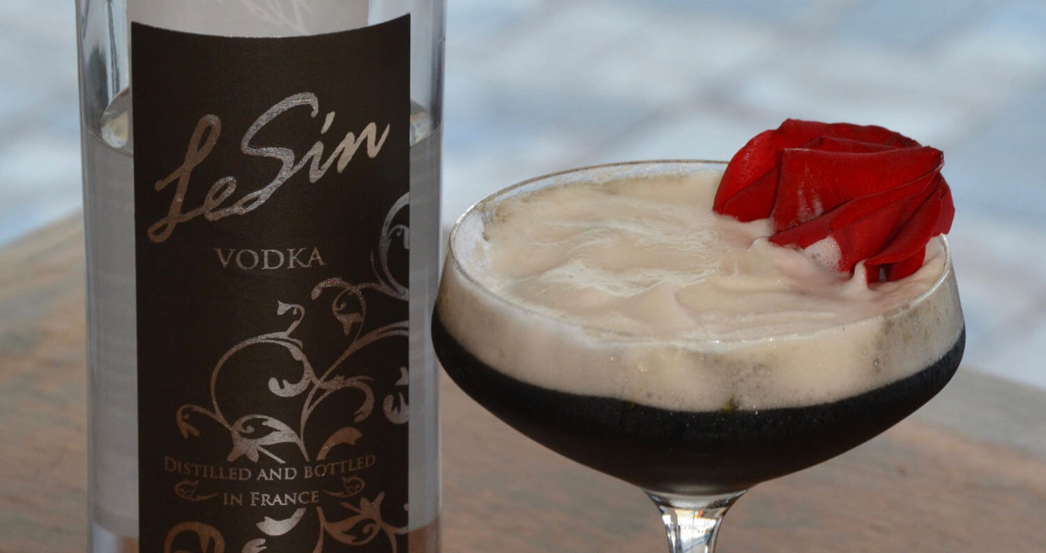 The Dark Side, cocktail and lesin bottle, featured image
