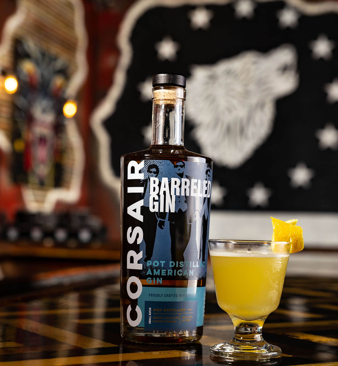 Corsair Distillery Barreled Gin and Tonic