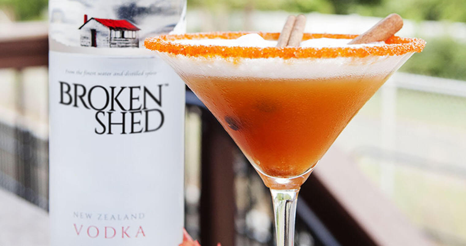 Broken Pumpkin Cider cocktail, featured image