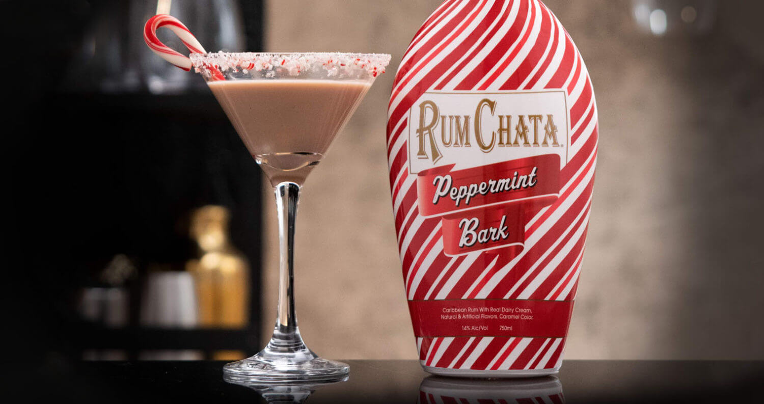 RumChata Peppermint Bark Martini W Bottle, featured image