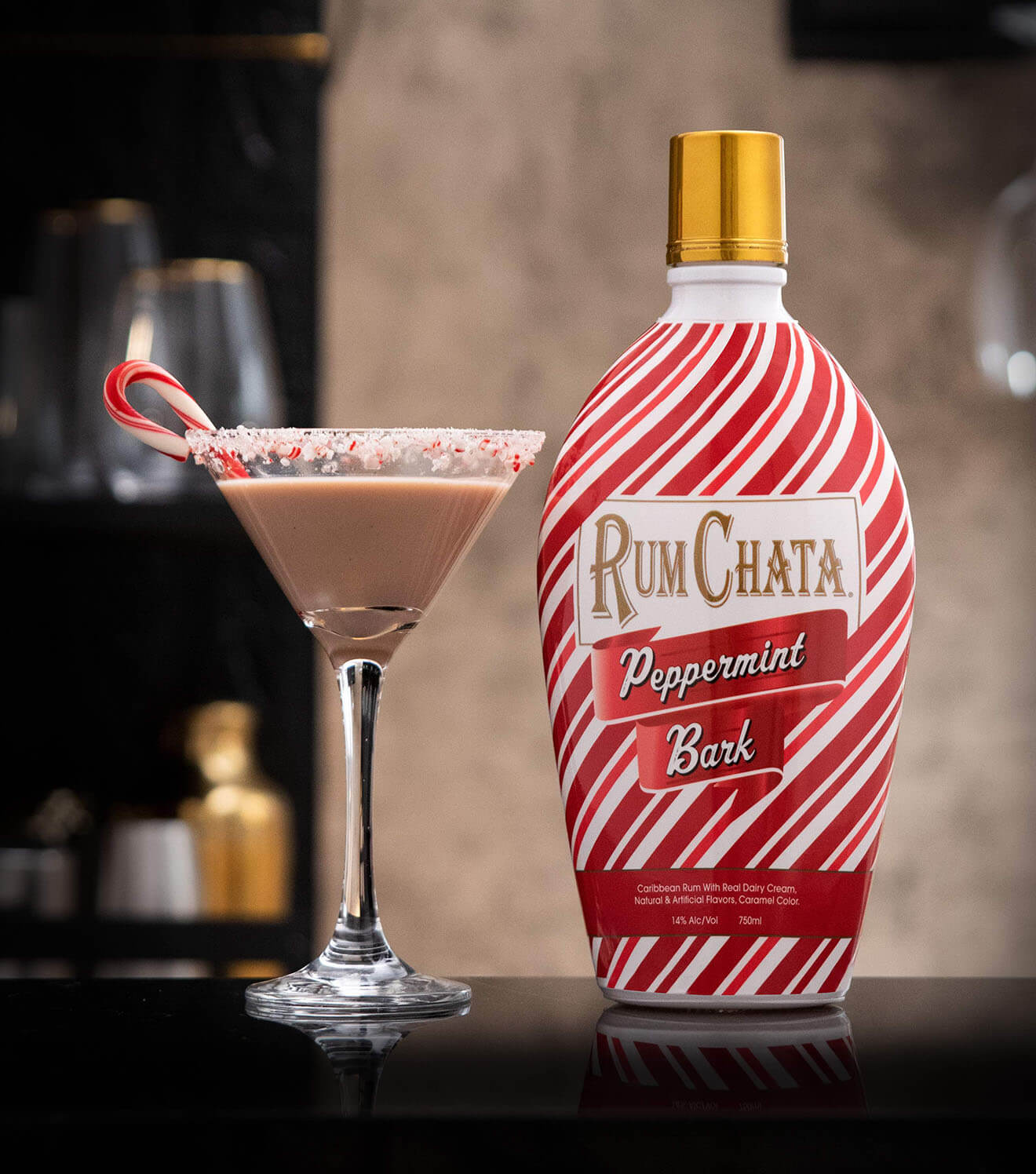 RumChata Peppermint Bark Martini W Bottle