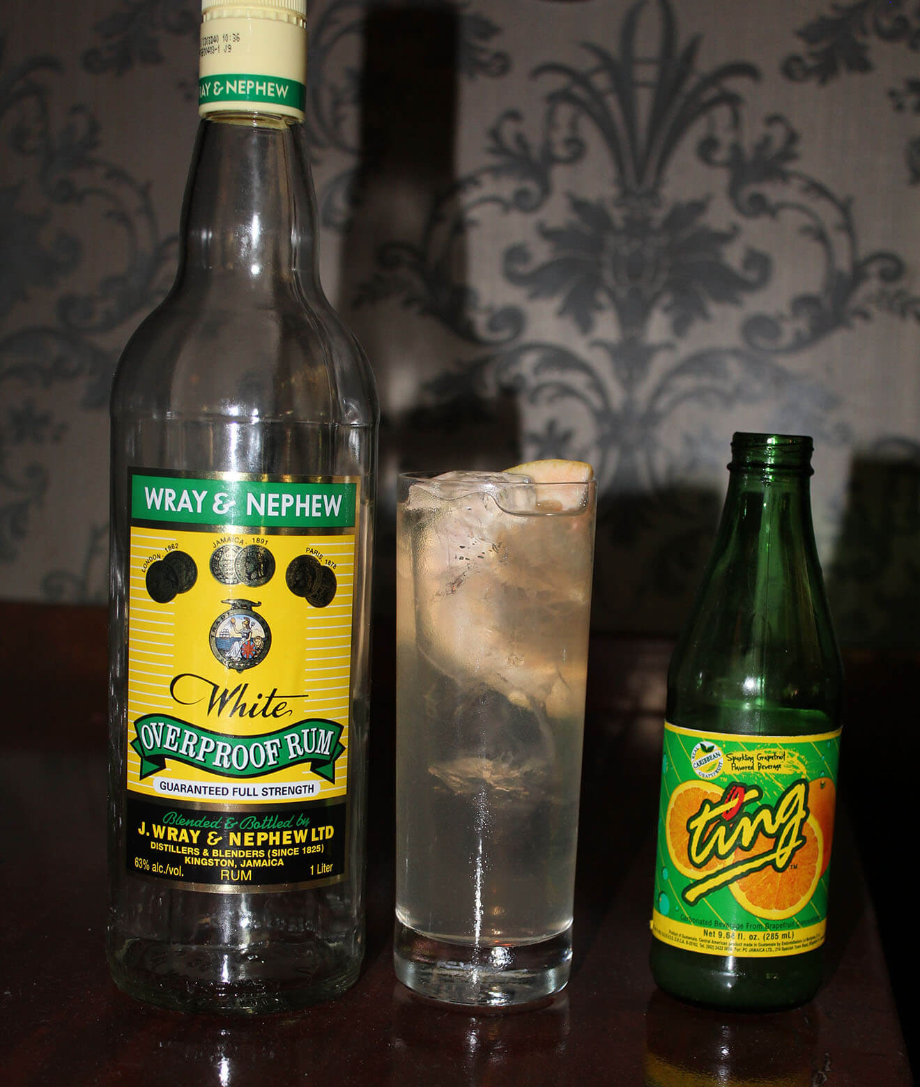 Wray & Ting Bottles with Cocktail