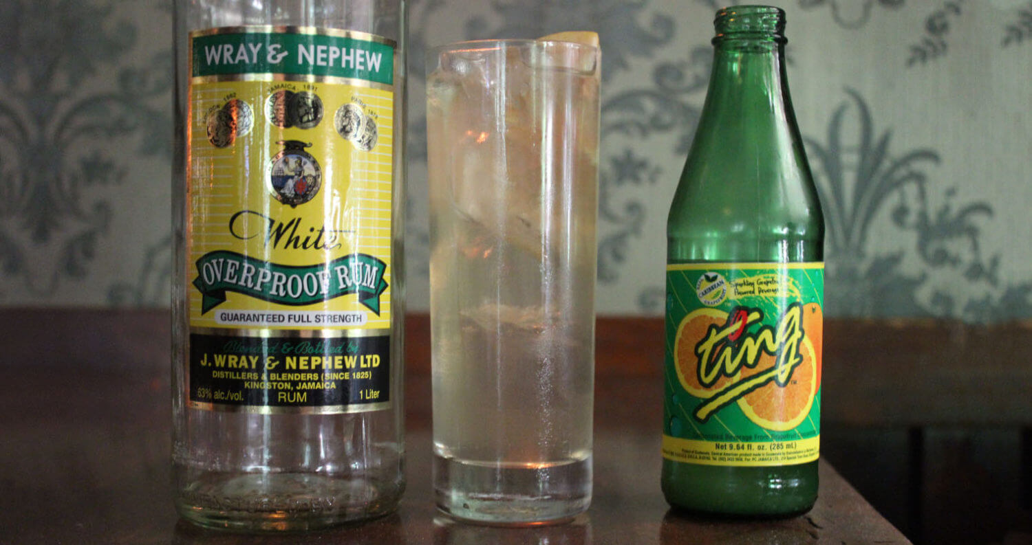 Wray & Ting Bottles with Cocktail, featured image