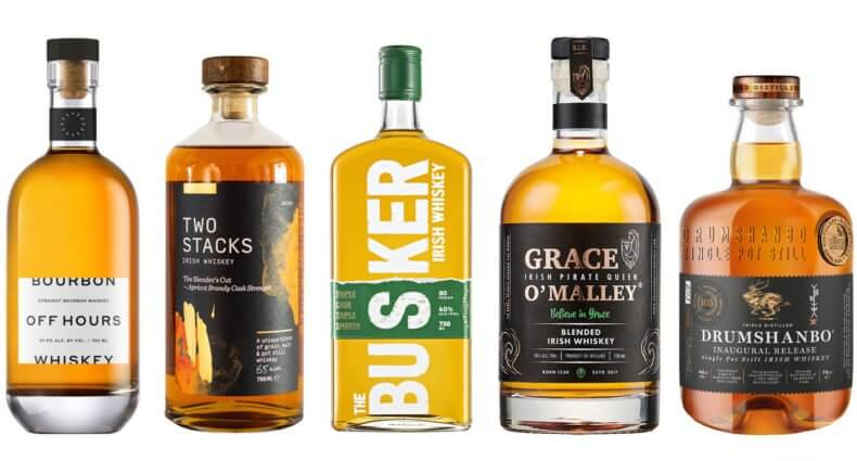 5 Whiskies to Try, bottle varieties on white, featured image