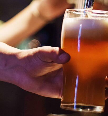 Drink being poured, featured image