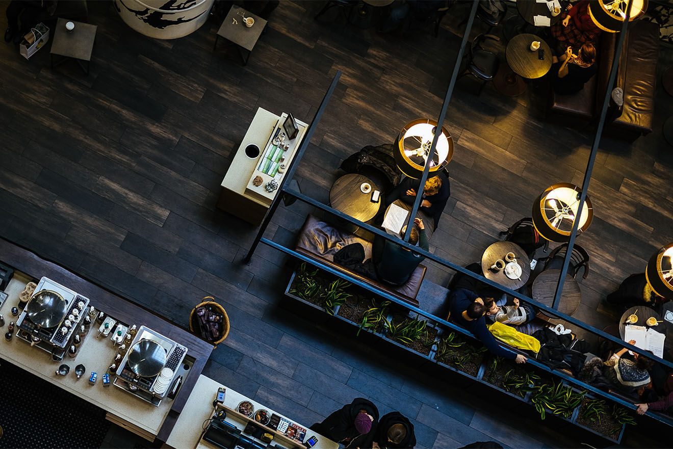 Bar from above