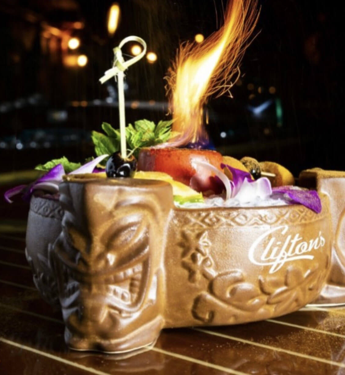 Flaming Cocktail from Pacific Seas