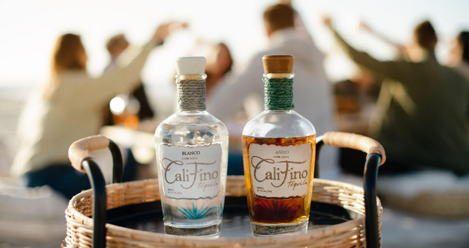 CaliFino Tequila, cheers on the beach, featured image