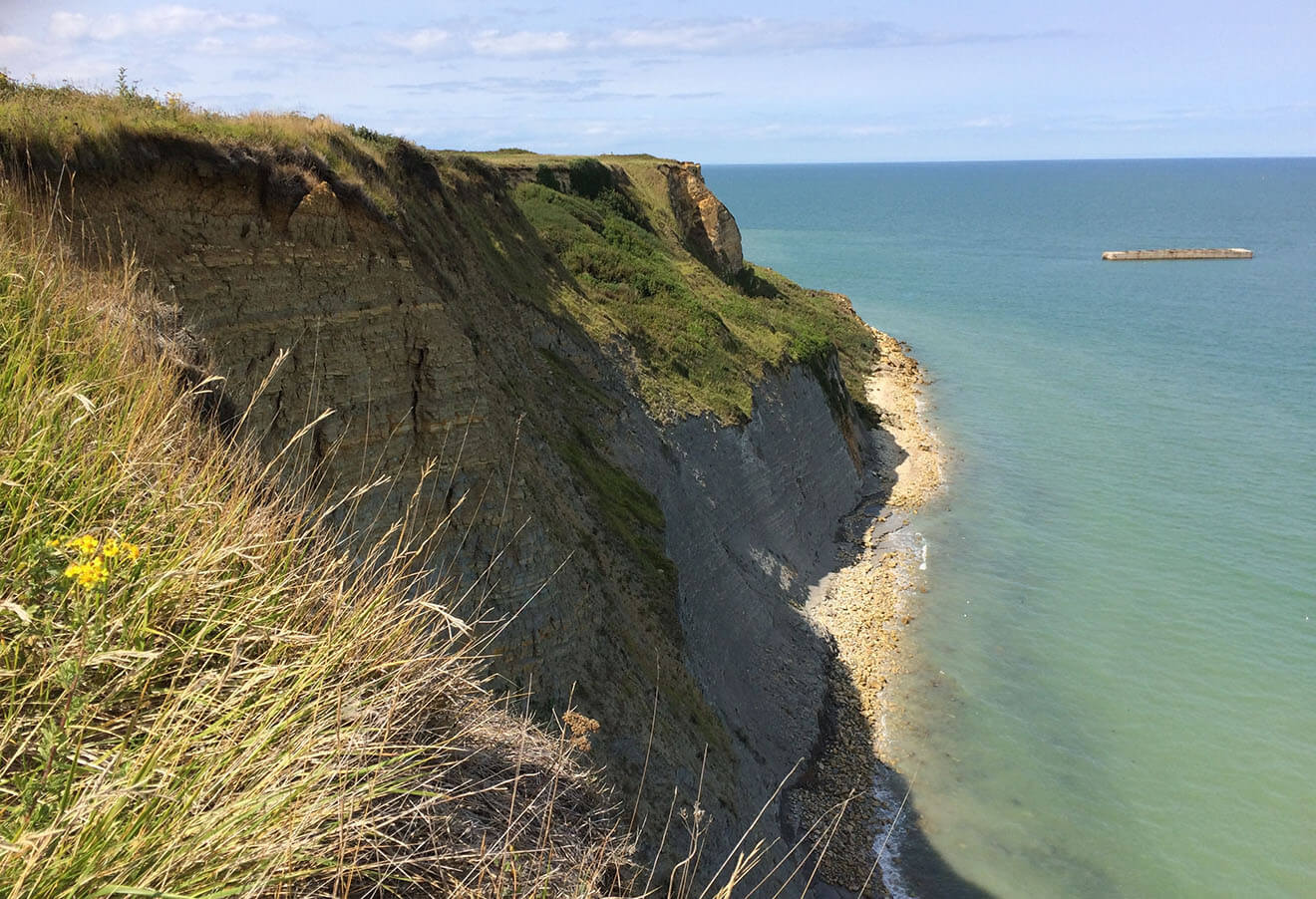A Cliff along the coast of Normandy