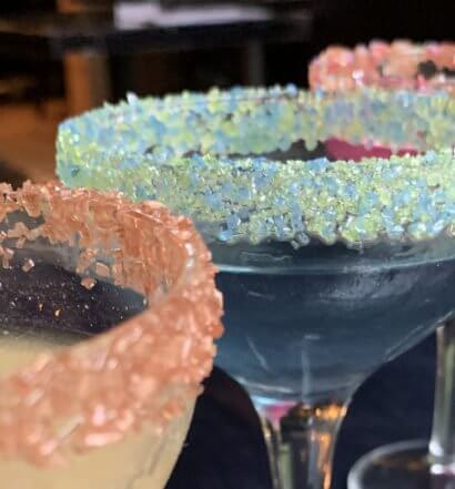 Snowy River Cocktails colorful sugar selection, featured image
