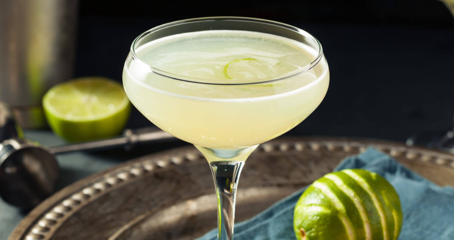 Alcoholic Lime and Gin Gimlet with a Garnisht, feature dimage