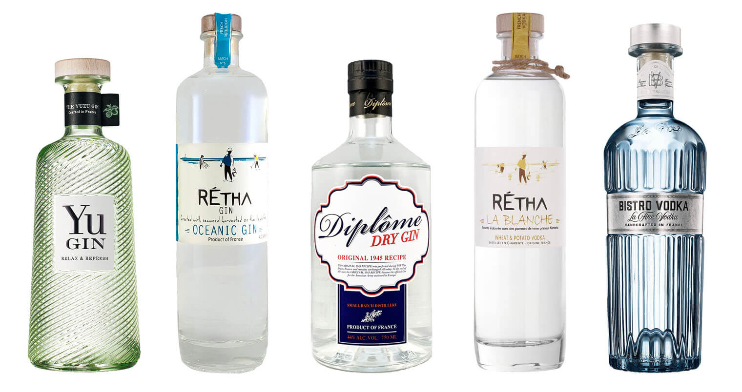 5 French Made Gins and Vodkas , featured image