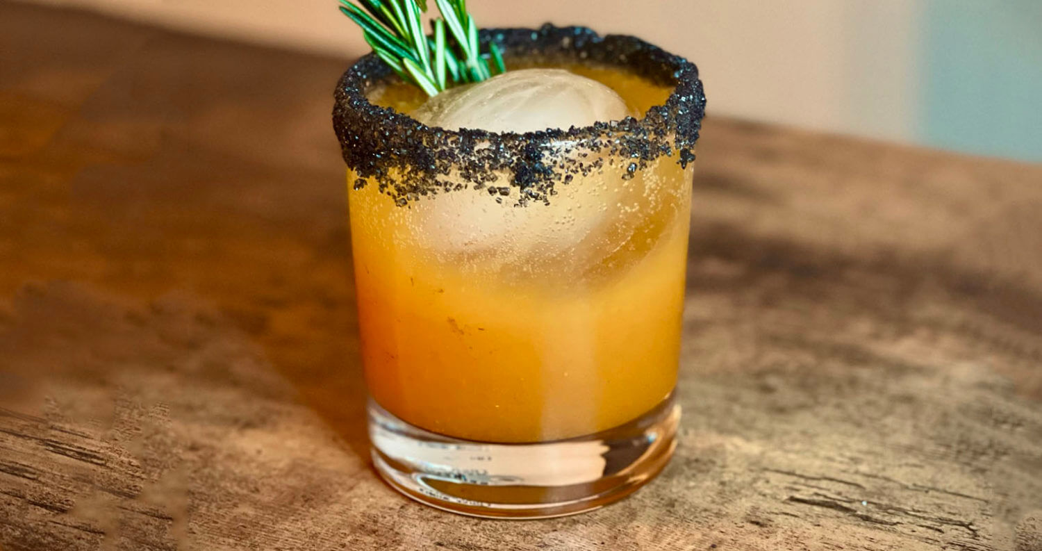 """""""Goblet of Fire"""", cocktail with garnish, featured image"""